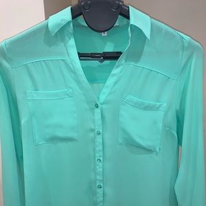 Express Portofino shirt. Color:Neon green. Size:M